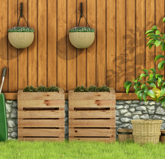 Muebles con palets en mueblesvintage for Jardinera de madera vertical