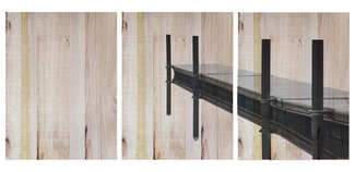 Cuadro de Madera Panorámico Muelle 147x60cm