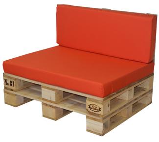 Muebles con palets en mueblesvintage for Cojin para sofa exterior